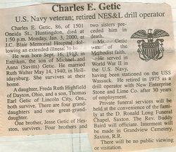 Getic, Charles E. 2000