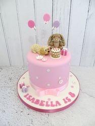 Isabella's dog and bunny birthday cake