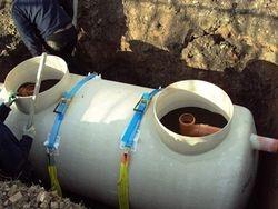 Crystal septic tank installation