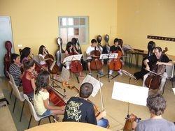 Clase de conjunto de violonchelos
