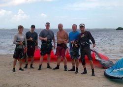 Drew, Mike, Jason, Telap, Jon, Steve - Kiss The Sky Kiteboarding kitesurfing