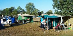 Our Camping Area at Townsville Odyssey - Jun 2003