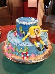 Sponge Bob Sqaure Pants cake