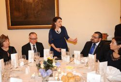 Mrs. Michelle Muscat opening the fundraising dinner.