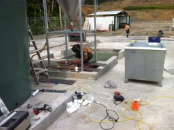 Platform for Steel Biin