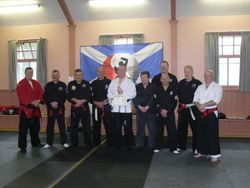 Presentation to Mark Petrie of 1st Dan Ju-Jitsu by Scottish Fighting Arts Society Panel