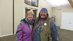 Lynda with Navajo guide, Brian Banally