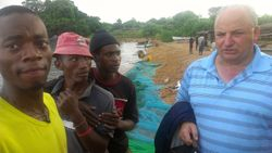 After praying with local fishermen