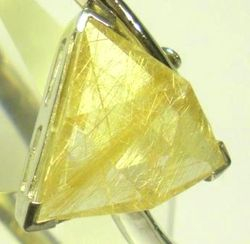 09-00124d Rutilated Quartz Triangle Sterling Circlet Bracelet