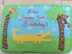 Alligator/ Safari/ Jungle Cake