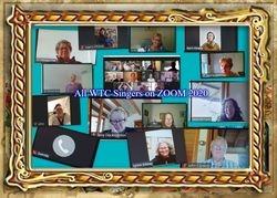 Collage Choir members on Zoom