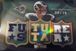 2010 Triple Threads Future Star Sam Bradford 08/18! Rookie Card