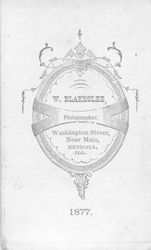 W. Blakeslee, photographer, Mendota, IL - back