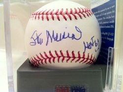 Stan Musial HOF 69, MLB Selig Baseball, PSA/DNA #M68008, GEM 9