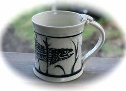 Trout Sgrafitto Mug