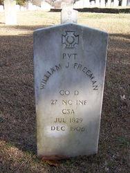 FREEMAN, WILLIAM J., Private, Co. D