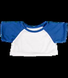 Blue and white baseball shirt
