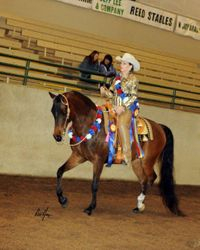 Sylvia Leavitt and Cyskho KF Half Arabian Western Pleasure