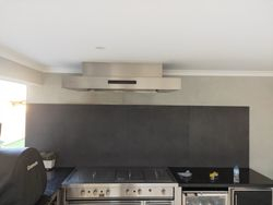Triple motor BBQ rangegheood inserted into ceiling to meet related height requirements
