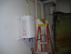 Installing the new Tankless Water Heaters