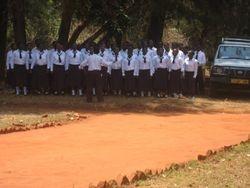 The Secondary School Choir rehearses