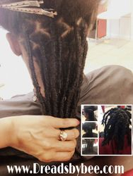 Instant Dreadlock Extensions By Bee for Men with Natural Hair texture
