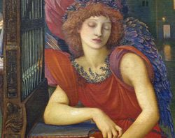 Burne-Jones, Love Song, detail, Met