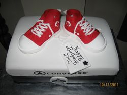 CAKE 37A2- Converse Sneakers Cake - Top View