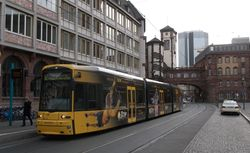Flexity #257, with the Altes Rathaus