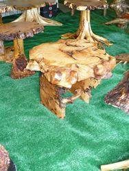 Maple burl end table