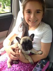 Jazzy with Rayonna on her way home