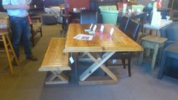Cedar set-table and bench