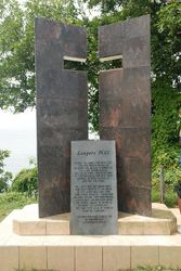 The monument at Leapers Hill