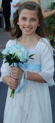 Junior Bridesmaid with Blue Hydrangea