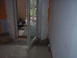 New door way in kitchen