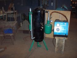 Shown here connecteted to a dynamometer to measure power