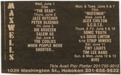 1988-05-03 Maxwell's, Hoboken, NJ.