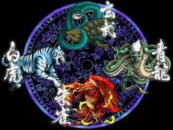 Four legendary Chinese creatures