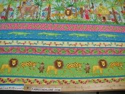 Jungle Friends Stripe - 78 (COTTON)