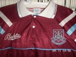 1991/92 worn pre-season Friendly at Falkirk.
