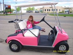 1999 Hot Pink Club Car -Electric