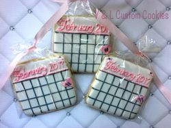 Bridal shower calendar