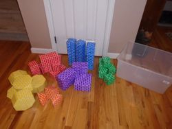 Hands on Fun Cardboard Blocks- 28 in a Tub - $14