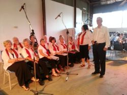 Whittlesea Township Choir leading the Community in song