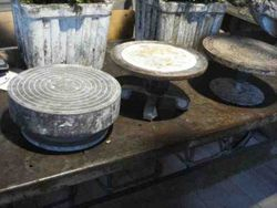#13/224  3 Metal Potters Wheels