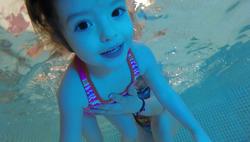 Sophia diving