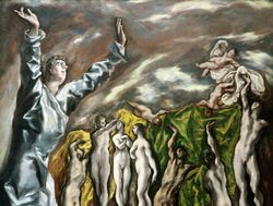 El Greco, The Opening of the Fifth Seal, detail, Met
