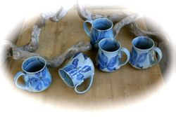 Summer Blues Mug Set