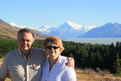 Lynda and Randy at Mount Cook