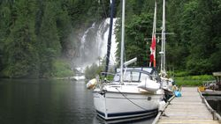 The dock at Chatterbox Falls
